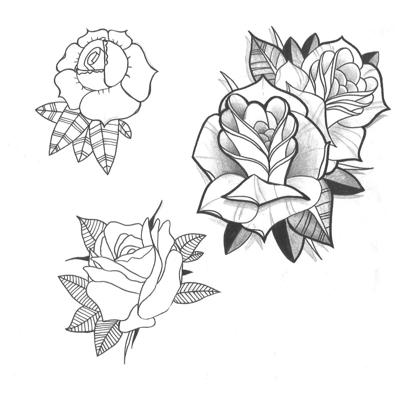 Flores Tradicional Y Neotradicional Mikel Designstattoo